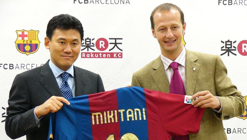 Rukuten es patrocinador del Barcelona de España